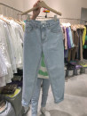 Jeans Summer 2020 blue S,M,L,XL Ninth pants High waist Straight pants routine 18-24 years old other light colour 51% (inclusive) - 70% (inclusive)