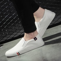 canvas shoe 35,36,37,38,39,40,41,42,43,44,45,46,47 No lacing Low Gang Other / other 002 white, 002 black, 002 blue Flat heel summer leisure time cloth rubber ventilation Solid color Vulcanized shoes Youth (18-40 years old), middle age (40-60 years old) without wearing make-up Daily leisure cloth