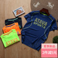 Children's quick drying T-shirt summer chemical fiber Sapphire blue, navy blue, fluorescent green, orange red, white, black, watermelon red, red, fruit green, moon blue male Dragon trainer 120,130,140,150,160,170 Class A T01 Ultra light, breathable, quick drying Polyester 100% sandy beach China