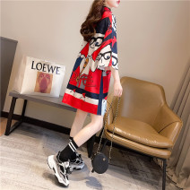 Women's large Summer 2021 Red k1183 black k2230 red k1191 M (for 80-110) l (for 100-140) XL (for 130-170) Dress singleton  Sweet moderate Socket Short sleeve Cartoon characters other Medium length cotton other zz004 Cardamine 18-24 years old Medium length Pure e-commerce (online only) other princess