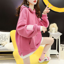 Women's large Spring 2021 Pink apricot M (suitable for 80-110 kg) l (suitable for 110-140 kg) XL (suitable for 140-170 kg) Sweater / sweater singleton  commute easy moderate Socket Long sleeves Korean version Crew neck routine printing and dyeing routine xx96 Cardamine 18-24 years old pocket