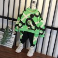 suit Little picture horse Orange, green 100cm,110cm,120cm,130cm,140cm,150cm male spring and autumn Korean version Long sleeve + pants 2 pieces routine No model Socket nothing Cartoon animation Cotton blended fabric children Expression of love OY023 Class B Chinese Mainland Zhejiang Province Hangzhou
