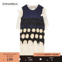 Dress Summer of 2019 XS S M XL Mid length dress singleton  Sleeveless commute Crew neck Dot other other other Others 30-34 years old Donoratico/ danyan lady More than 95% hemp Flax 100% Same model in shopping mall (sold online and offline)