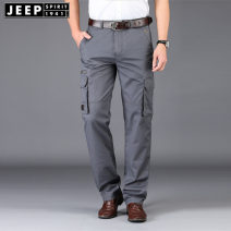 Casual pants Jeep / Jeep other 29,30,31,32,33,34,35,36,38,40,42 thin trousers Other leisure Self cultivation Micro bomb summer youth Military brigade of tooling 2021 middle-waisted Straight cylinder Overalls No iron treatment Solid color cotton cotton International brands