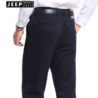 Casual pants Jeep / Jeep Fashion City thick trousers Other leisure easy get shot A617 autumn youth Business Casual 2020 High waist Straight cylinder other washing Solid color International brands
