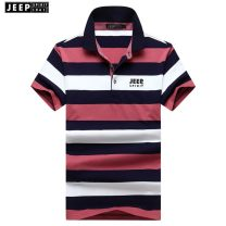 T-shirt Fashion City Red, green, blue thin M 100-130 kg, l 130-150 kg, XL 150-170 kg, 2XL 170-180 kg, 3XL 180-200 kg Jeep / Jeep Short sleeve Lapel easy business affairs summer youth routine 2021 stripe other other International brands