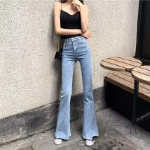 Jeans Autumn 2020 Blue 5219 black 5219 blue 5217 S M L XL trousers High waist Flared trousers Thin money 18-24 years old Old wash zipper multiple pockets other Thin denim light colour Newciiteer 31% (inclusive) - 50% (inclusive) Other 100%