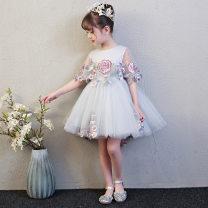 Children's dress Red, grey, pink, grey long, light pink female 160cm,130cm,120cm,150cm,140cm,110cm,100cm Other / other full dress Class B 3 months princess