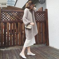 Fashion suit Autumn 2020 S M L XL XXL XXXL [grey sweater + white vest skirt] single piece [white vest skirt] single piece [grey sweater] 18-25 years old Eugenome LyzDwE 81% (inclusive) - 90% (inclusive) Triacetate fiber (triacetate fiber) 100%