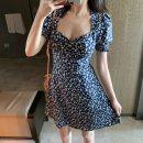Women's large Summer 2020 blue Large L, large XL, s, m, 2XL, 3XL Dress commute Korean version A01552 18-24 years old