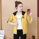 short coat Autumn of 2019 S M L XL 2XL Black yellow red Long sleeves routine routine singleton  Straight cylinder Original design routine Hood zipper 25-29 years old Ni Yiduo 96% and above Pocket thread zipper other polyester fiber Other 100% Pure e-commerce (online only)