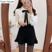 Fashion suit Autumn 2020 S,M,L,XL White shirt + black skirt, black shirt + black skirt 18-25 years old 51% (inclusive) - 70% (inclusive)