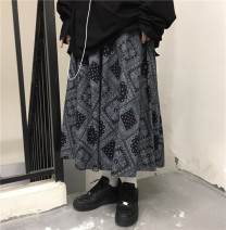 skirt Autumn 2020 S, M Picture color Middle-skirt street High waist Type A 18-24 years old 30% and below cotton