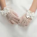 glove ivory 4-8 years old Finger gloves female Other / other polyester fiber G0001