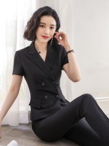 Professional pants suit Black suit + black skirt black suit + black trousers black suit + black skirt + black trousers black suit black skirt black pants S M L XL XXL XXL (group purchase can be customized) Summer of 2019 Coat other styles Short sleeve C075-S1005-K307 trousers Jin Yan 25-35 years old