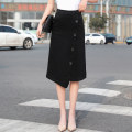 skirt Spring 2020 26 27 28 29 30 31 32 33 34 36 38 40 black Mid length dress commute High waist A-line skirt Solid color Type A 25-29 years old 71% (inclusive) - 80% (inclusive) Denim Kalaboo / kalaboo cotton Asymmetry Korean version Pure e-commerce (online only)