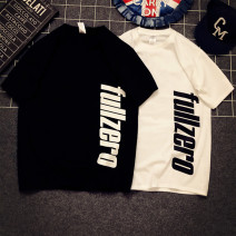 T-shirt White, black Summer 2020 Short sleeve Crew neck easy Regular routine street cotton 96% and above originality letter Other / other printing Europe and America