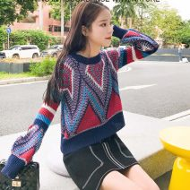 Wool knitwear Spring of 2019 Average size Pink (free shipping insurance), blue red (free shipping insurance), free shipping insurance, try on, red, white and blue Long sleeves singleton  Socket wool 30% and below have cash less than that is registered in the accounts routine Sweet easy other routine