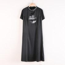 Dress Autumn 2020 Black, red L 105,XL 115,2XL 130,3XL 145