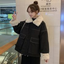 Cotton padded clothes Black, pink One size fits all, XXXs pre-sale Winter of 2019 Other / other routine Long sleeves thickening commute Korean version 18-24 years old
