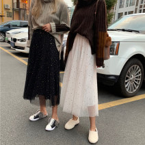 skirt Winter of 2018 One size fits all, XXXs pre-sale White, black Middle-skirt Versatile High waist Fluffy skirt other Type A 18-24 years old 91% (inclusive) - 95% (inclusive) Other / other
