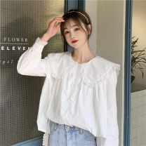 shirt Apricot, white One size fits all, XXXs pre-sale Spring 2021 other 51% (inclusive) - 70% (inclusive) Long sleeves commute Regular 18-24 years old Other / other Korean version