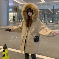 Cotton padded clothes Khaki, grey blue One size fits all, XXXs pre-sale Autumn of 2019 Other / other routine Long sleeves routine commute Hood routine Solid color Korean version 18-24 years old