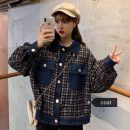 short coat Autumn of 2019 M. L, XXS pre-sale blue Long sleeves routine routine singleton  easy commute stand collar Single breasted lattice 18-24 years old Other / other 30% and below
