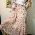 skirt Spring 2021 One size fits all, XXXs pre-sale Apricot, pink Mid length dress commute High waist 18-24 years old Korean version