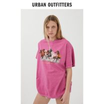 T-shirt S/M L/XL Spring 2021 Short sleeve Medium length cotton 96% and above Urban outfitters Cotton 100%