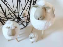 Plush cloth toys 2, 3, 4, 5, 6, 7, 8, 9, 10, 11, 12, 13, 14, and over 14 years old (mini) 8x5.5x9.5, (small) 9.5x7x12.5, (medium) 11.5x8.5x18, (large) 15.5x13x27.5, a set of 4 Custom size 1 Plush Doll PP cotton Sheep sheep domestic