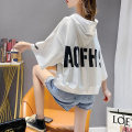 T-shirt White yellow Average size Summer 2021 Long sleeves Hood easy Regular routine commute cotton 71% (inclusive) - 85% (inclusive) 18-24 years old Korean version originality letter Yinwei printing Cotton 73% polyacrylonitrile fiber (acrylic) 27% Pure e-commerce (online only)