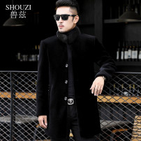 leather clothing Zouzi Fashion City black 0 01 00 000 185/XXXL 02 Medium length leather and fur stand collar Straight cylinder Single breasted winter leisure time youth Other 100% Youthful vigor SZ170630 Cloth hem Side seam pocket Arrest line No iron treatment Fall 2017 Pure e-commerce (online only)