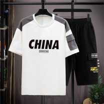 T-shirt Youth fashion thin Dream in Peach Garden Short sleeve Crew neck standard daily summer TY50296-K13 Cotton 100% teenagers routine tide Cotton wool cloth Alphanumeric Summer 2021 cotton The thought of writing Non iron treatment Fashion brand Pure e-commerce (online sales only) More than 95%