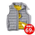 Down vest 110cm 120cm 130cm 140cm 150cm 160cm 170cm Solid color White duck down Class C winter 70% neutral nylon Autumn of 2018