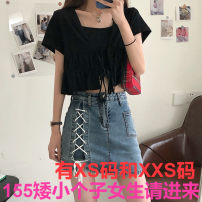 skirt Summer 2021 Xs, s, m, l, XL, XXS for height 145-155 Blue, black Short skirt commute High waist skirt other Type A 18-24 years old More than 95% other Zhenyaluo other Korean version