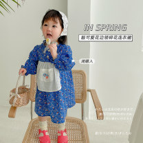 Dress The orange flower in middy, the blue one female Other / other 80cm,90cm,100cm,110cm,120cm,130cm,140cm Other 100% spring and autumn Korean version Long sleeves Broken flowers cotton A-line skirt AUT1439 12 months, 18 months, 2 years old, 3 years old, 4 years old, 5 years old, 6 years old