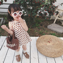 Dress Dot dot (June 20 to June 27) Other / other female 73cm 80cm 90cm 100cm 110cm 120cm 130cm Cotton 90% other 10% summer lady Skirt / vest Dot Cotton blended fabric A-line skirt two thousand eight hundred and twenty-seven