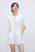 Dress Summer 2020 white S,M,L singleton  Short sleeve street routine TRAF More than 95% Europe and America