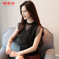 Lace / Chiffon Summer of 2018 SMLXLXXL 239 black 253 pink 253 white 255 picture color 237 gray Short sleeve Commuting Sleeve Conventional models Single