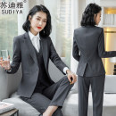 Professional pants suit S M L XL XXL XXXL 4XL Autumn of 2019 Coat other styles Long sleeves trousers Sudya 25-35 years old