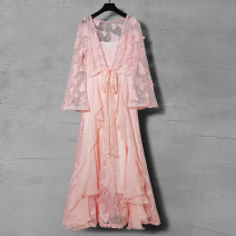 Fashion suit Spring 2021 S M L XL White (2-piece set) pink (2-piece set) Over 35 years old Duo Yue Other 100% Pure e-commerce (online only)