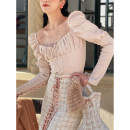 Fashion suit Winter 2020 XS., S., M., one size fits all LACE VEST, skirt, arm tie shirt, fishbone bag (bra shape, one size) 18-25 years old