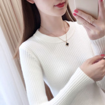 sweater Autumn of 2019 S M L XL Apricot Khaki white red black Long sleeves Socket singleton  Regular other 95% and above Crew neck Regular commute routine Solid color Self cultivation Regular wool Keep warm and warm Lu Kou LOKO67QD19ZK thread Other 100% Pure e-commerce (online only)