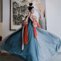 Hanfu 96% and above Autumn of 2019 Yugezi / shangru + xiaskirt (2 pieces) + Silk 6 m skirt (one set) S M L polyester fiber