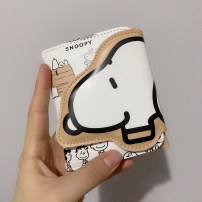 wallet Short Wallet PU khaki brand new Japan and South Korea female Buckles Cartoon animation 70% off Horizontal style youth Jam printing polyester fiber soft surface