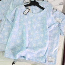 shirt Printed on light blue background 8,10,12,14,16,18 hemp 96% and above