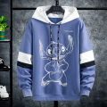 Sweater Youth fashion Kava Wolf 9917 black 9917 yellow 9917 blue M L XL 2XL 3XL Cartoon animation Socket routine Hood spring easy leisure time youth tide routine KWL**9917 Fleece  Cotton 64.4% polyester 35.6% cotton printing No iron treatment Spring 2021 50% (inclusive) - 69% (inclusive)