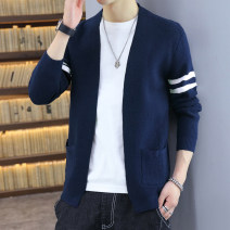 T-shirt / sweater Kava Wolf Youth fashion M608 Navy cyan m608 black m608 army green m608 light gray M611 black M611 coffee M L XL 2XL 3XL routine Cardigan stand collar Long sleeves KWL-M608 spring and autumn Slim fit 2020 leisure time tide youth routine other Autumn 2020 other Color matching
