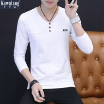 T-shirt Youth fashion white routine L Kava Wolf KWL-8313 Cotton 94.7% polyurethane elastic fiber (spandex) 5.3% Fall 2017 Pure e-commerce (online only)
